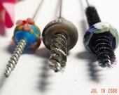 SET OF 3 - Lampwork Bead Brushes for Pandora, Troll, Biagi Beads