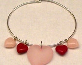 Life's Necessities: All You Need Is Love // Red and Pink Hearts Charm Bracelet