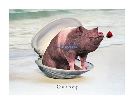 Quahog note card