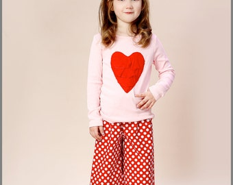 Red and White Dot Ruffle Pants