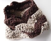 Chunky scarf, crochet scarf, striped infinity scarf, chevron cowl scarf, winter accessories