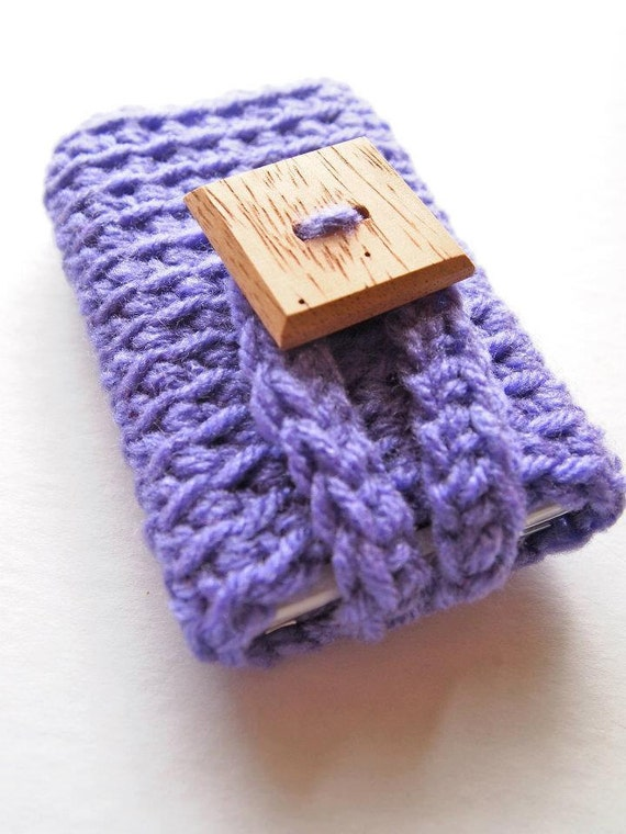 iPhone 4 case, cell phone cover or mp3 player cozy in purple, gadget accessories