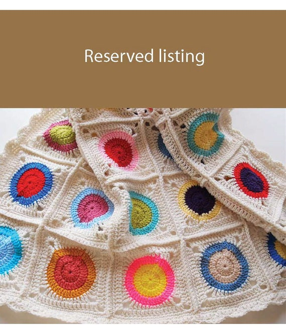 Custom order for Lorene - granny square pillow cover