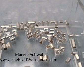 Sterling Silver Crimp Tube  2mm 50pc Beads Heavy Wall Best Quality