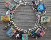 ADULT SIZE Princess Books Fringe Charm Bracelet