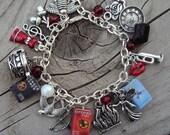 ADULT SIZE HungerGames Books Fringe Charm Bracelet