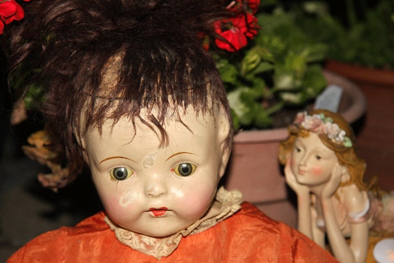 1920s composition doll baby doll 21 inch long