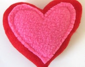 Sale: Red And Pink Heart Organic Catnip Cat Toy