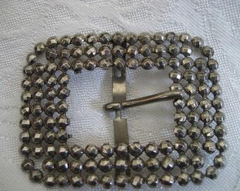 ANTIQUE Riveted Cut Steel Belt Buckle