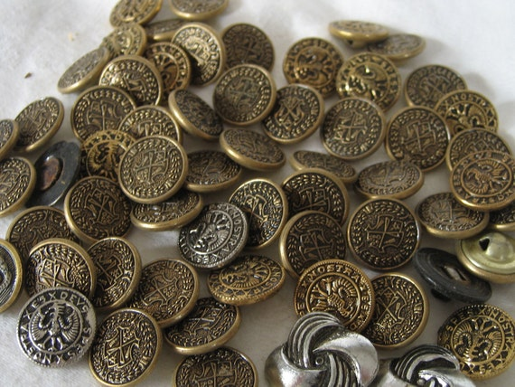 LOT Sets of  VINTAGE Eagle and Shield Metal BUTTONS  333