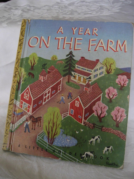 VINTAGE 1st Edition 1948 A Year on the Farm Little Golden Book