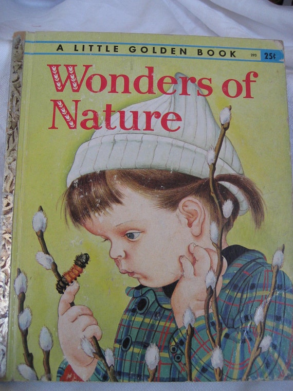 VINTAGE A 1st Edition 1957 Wonders of Nature Little Golden Book