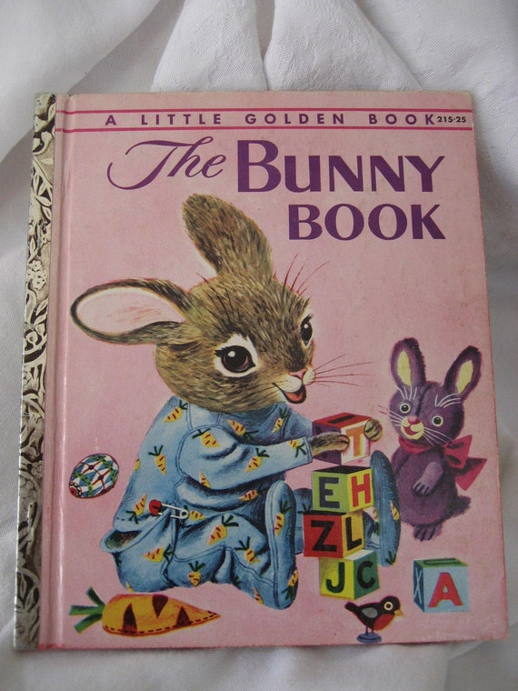 VINTAGE A 1st Edition 1955 The Bunny Book Little Golden Book