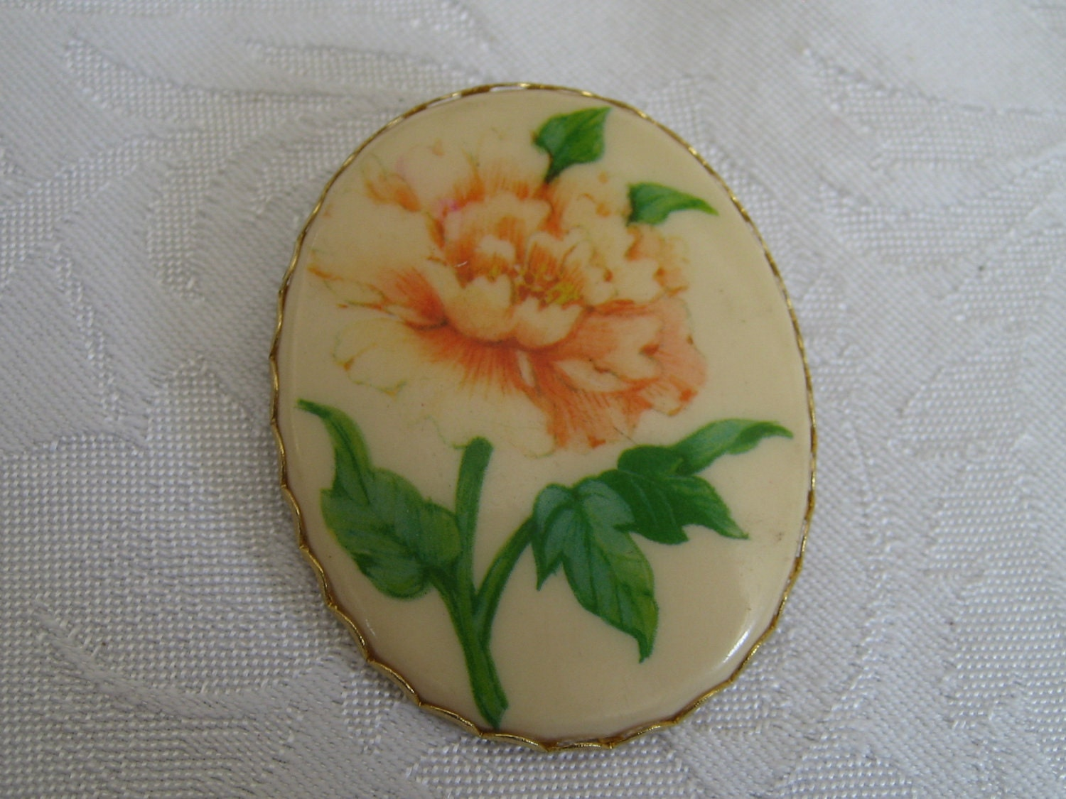 Vintage hallmark flower costume jewelry brooch and pendant Hallmark flowers