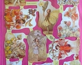 Victorian Die Cut 12 Flower Fairy Decoupage Scrap Cicely Mary Barker