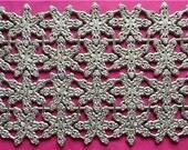 German Dresden Fancy Gold Snowflakes Xmas Scrap Die Cut