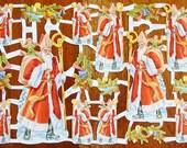 New German Victorian Paper Scrap Saint Nicholas Santa Claus Christmas