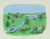 Stone Bridge Farm       original painting