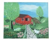 Red Shed Original Acrylic Painting