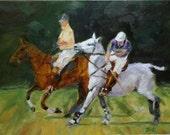 Horse Polo Original Painting entitled Polo Anyone....