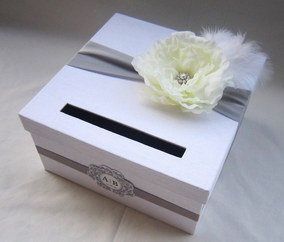 Box For Wedding Gift Cards Diy : WEDDING CARD BOX MONEY HOLDER CUSTOM MADE Any color and combination