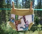 Small NB 3 months fleece soaker giraffe Girl Boy print  FREE SHIPPING