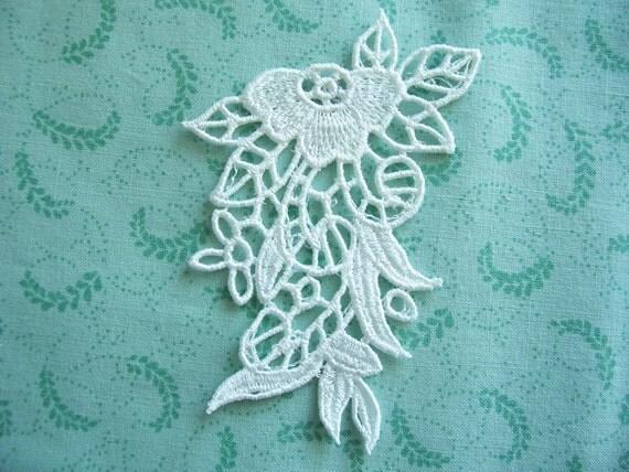 White Flower lace Applique