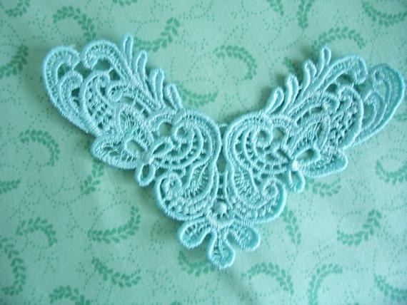 Aqua Blue Venice Lace Applique For Jewelery/ Lace Necklace