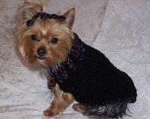 CURLY Q  Dog Sweater Crochet Pattern