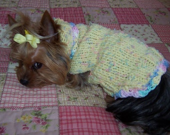 SUGAR AND SPICE  Dog Sweater Knit Pattern