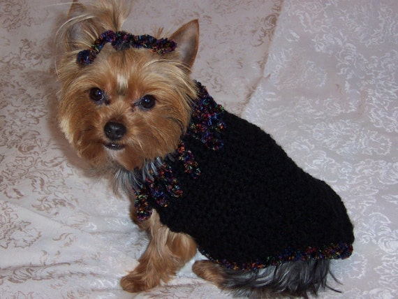 CURLY Q  Dog Sweater Crochet Pattern