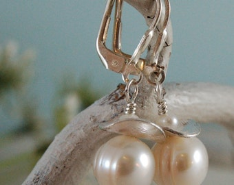 Freshwater Pearls Earring White Pearls Sterling Silver