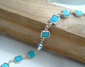 Stepping Stones - Turquoise and Sterling Silver Bracelet from daisychain studios