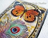 Butterfly Season Decoupage Wall Art, Autumn digital collage monarch