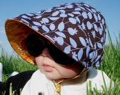UB2 CUSTOM a one-of-a-kind absolutely unique summer baby sun hat by The Urban Baby Bonnet available in All Sizes