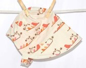 UB2 MANDARIN MAGPIES softly-toned songbird sisters sit singing sweetly (say that 7 times fast) by The Urban Baby Bonnet--- size large