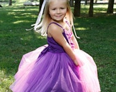 RAPUNZEL  TUTU style dress from Lover Dovers for toddlers and girls fun for special occasion or birthday party costume