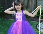 RAPUNZEL dress TUTU princess dress for toddlers and girls fun for special occasion or birthday party costume