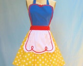 SNOW WHITE inspired retro APRON womens full costume aprons