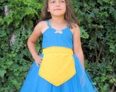 MERIDA dress Brave princess  TUTU dress style  for toddlers and girls fun for special occasion or birthday party costume