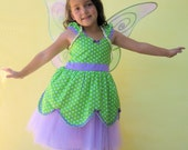 Tinkerbell dress TUTU dress from Lover Dovers handmade girls birthday party  or vacation costume