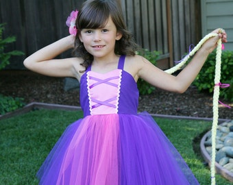 RAPUNZEL costume dress TUTU dress style for toddlers and girls fun for special occasion or birthday party costume
