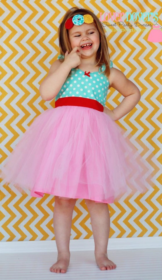 Tutu Party Dress for baby toddler girl.... first birthday party dress portrait  or special occasion Candy Shop