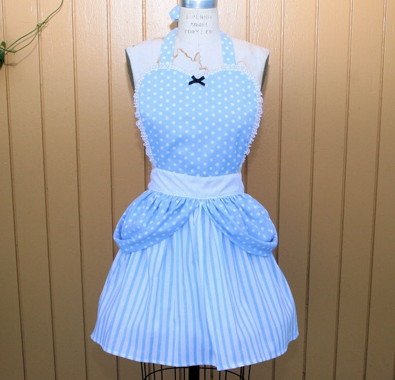 CINDERELLA APRON  Princess style  womens full Apron from Lover Dovers