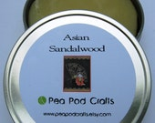 Asian Sandalwood Handmade Soap - In the Round with tin
