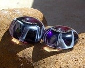 Purple Haze Italian glass Beads by DragonStarGlass Studio set of 2