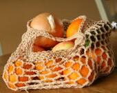 Organic cotton farmer's market bag