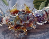 Beadtrap Boro Glass Ruffle Bead Set Lavenders