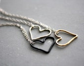 SILVER Open Heart necklace (Bright Sterling Silver)