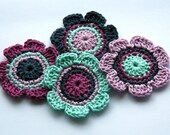 NEW Crochet Motifs for Embellishment - Vintage style Shades